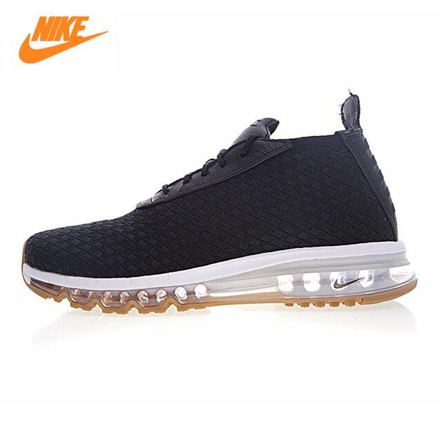 newest 83eb6 fa9f3 ... discount nike air max woven boot mens running shoes black blue non slip  a2228 c1a3e