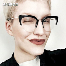 Cat Eye Eyeglasses Spectacle Frame Women Computer Prescription Optical For Female Vintage Eyewear Clear Lens Glasses Frame RS514