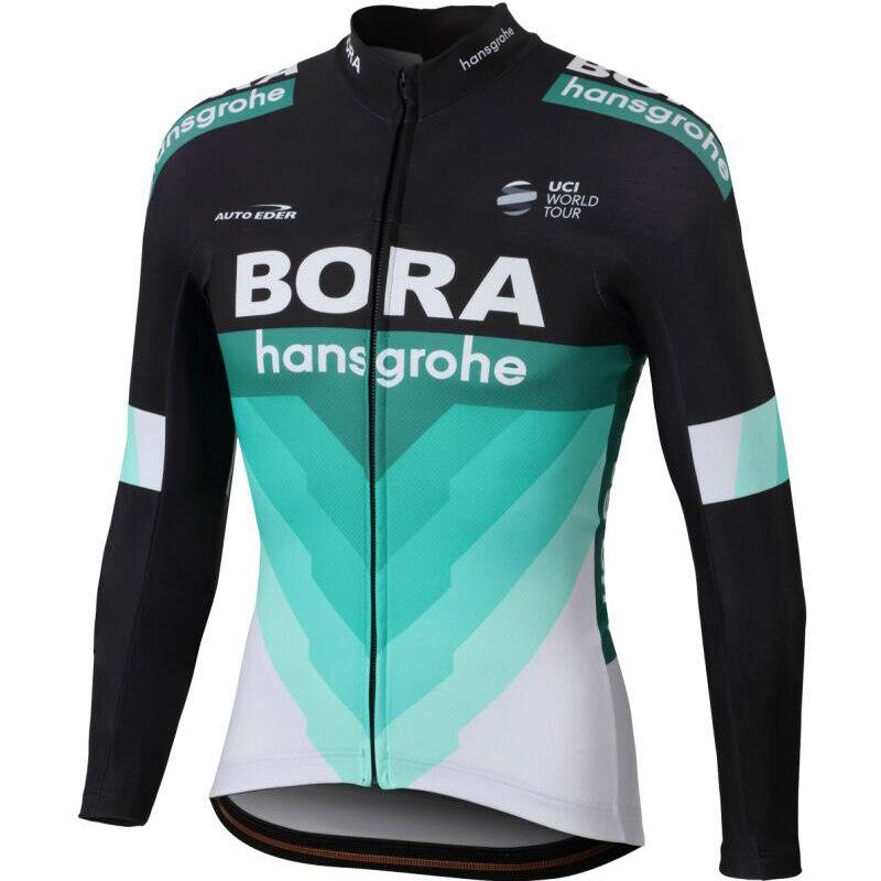 Mens Bora Ropa Ciclismo Pro Équipe 2018 Nouveau Bora Vélo Jersey À Manches Longues Vélo Vêtements Vélo Chemise Maillot VTT Vêtements