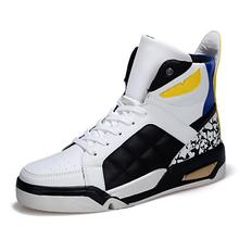 2016 Autumn And Winter Fashion Men Casual Shoes Hip Hop Leather High top Outdoor Shoes trainers