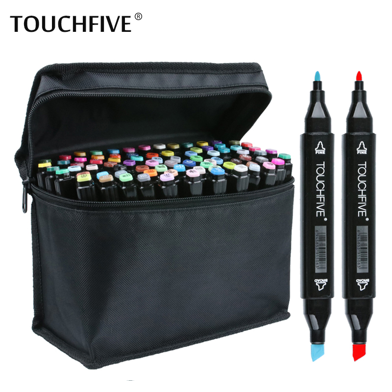 TouchFIVE 36/48/60/72 Colors set Art Markers alcohol Dual Headed graffiti pen markers pen For Animation Manga Design touchfive 36 48 60 72 colors art marker set oily alcoholic sketch markers double headed for animation manga draw