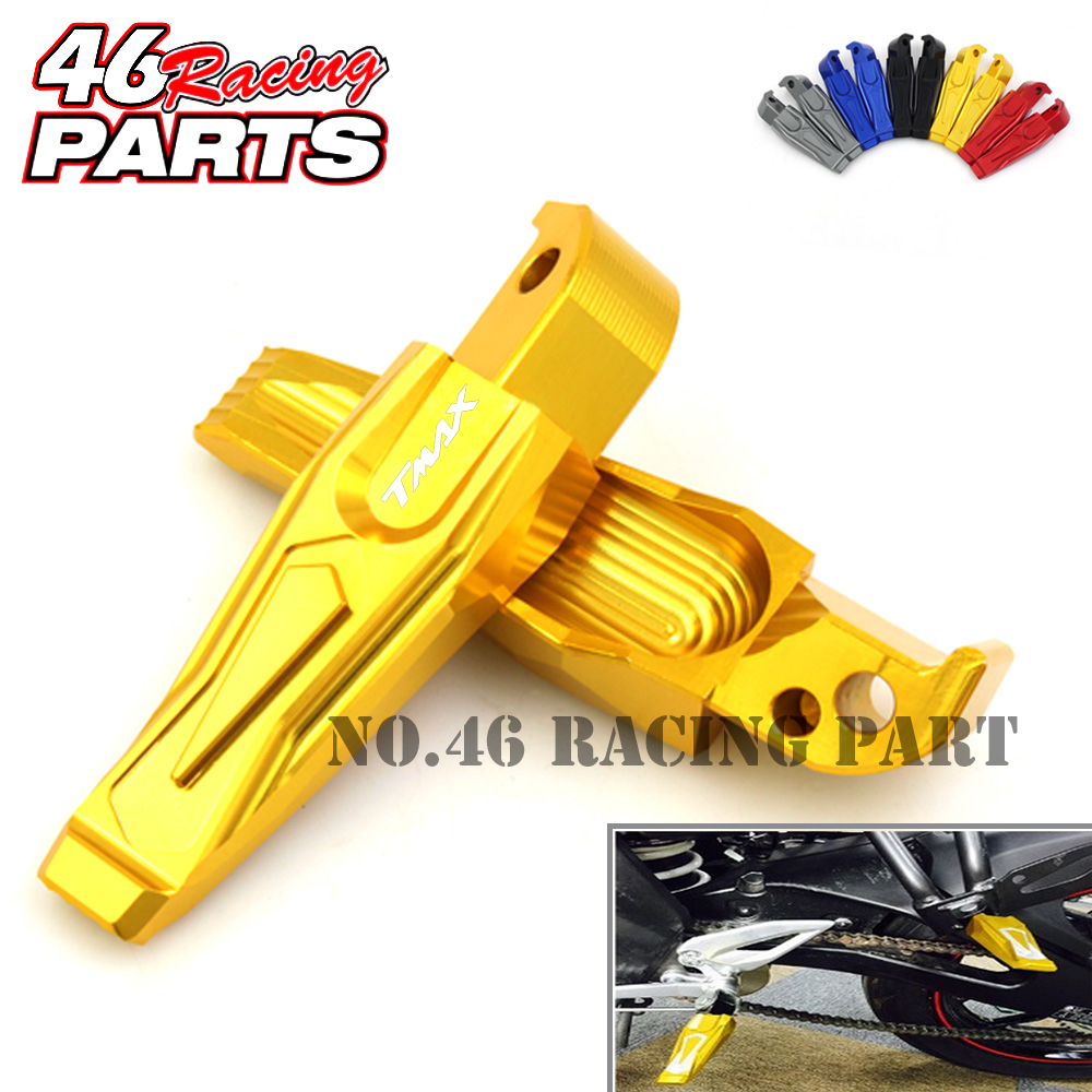 CNC Motorcycle Rear Foot Pegs Rests Passenger Footrests For Yamaha TMAX 530/500 T-MAX 530/500 XP530 TMAX530 TMAX500 стоимость