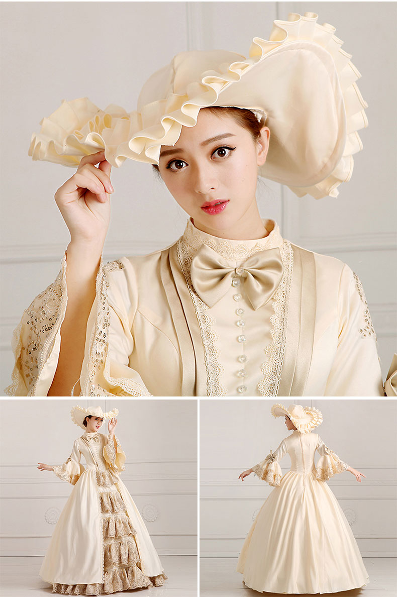 Home Lovely European Court Dress 18th Century Queen Victorian Dresses Ball Gowns For Ladies Halloween Cosplay Costume