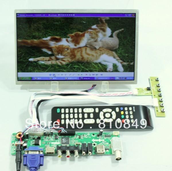 TV/HDMI/VGA/AV/USB/AUDIO LCD controller Board+10.1inch B101AW03 1024*600 lcd panel  LTN101NT02 B101AW03 N101L6 LP101WSA