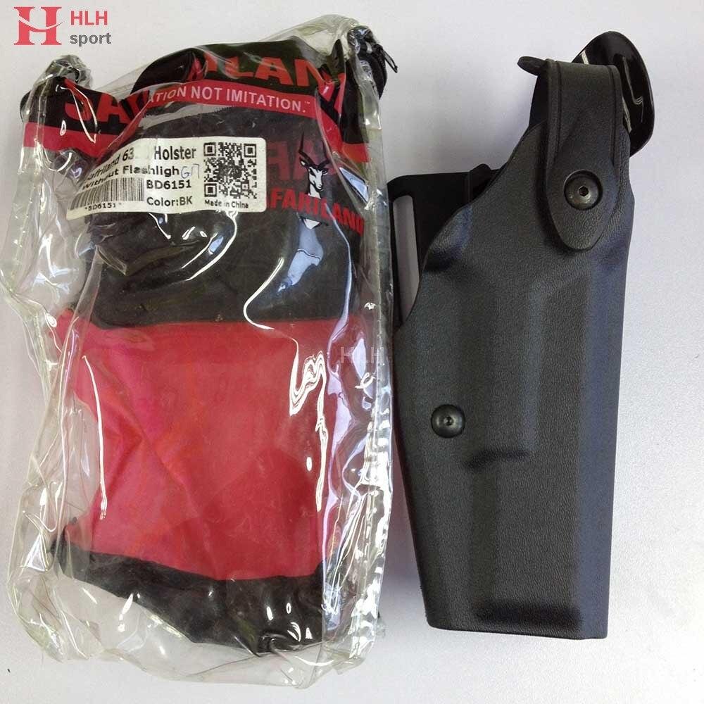 Hlhsport For Safariland Tactical Gun Holster Glock Light Bearing Compact Belt Holsters Fits Glock 17 19 22 23 31 32 Black Tan