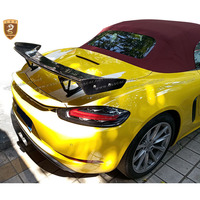 Carbon Fiber GT Spoiler Fit For Cayman Boxster 718 987 997 998 981 911 2016 2018 Rear Wing Carbon Track Car Styling