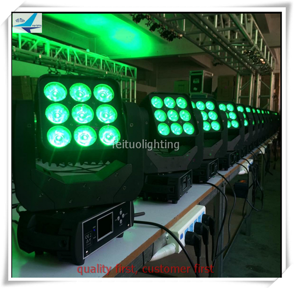 T- Free shipping 6 pieces China disco lighting 9x12w rgbw 4in1 led beam moving head