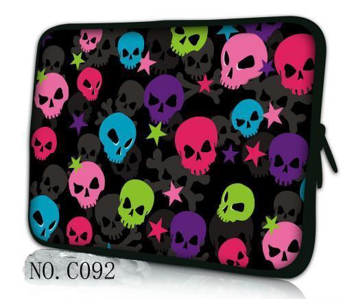 Colorful Skulls  Laptop Bag 7 10 10.1 10.2 11.6 12 12.1 13 13.3 14 15 15.4 15.5 15.6 17 inch Netbook Sleeve Cases For Boy Girl's
