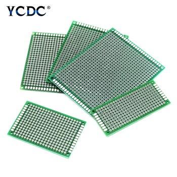 Placa de circuito Proto de PCB de mezcla de 4 tamaños, tira de doble cara, placa de pruebas 20 piezas