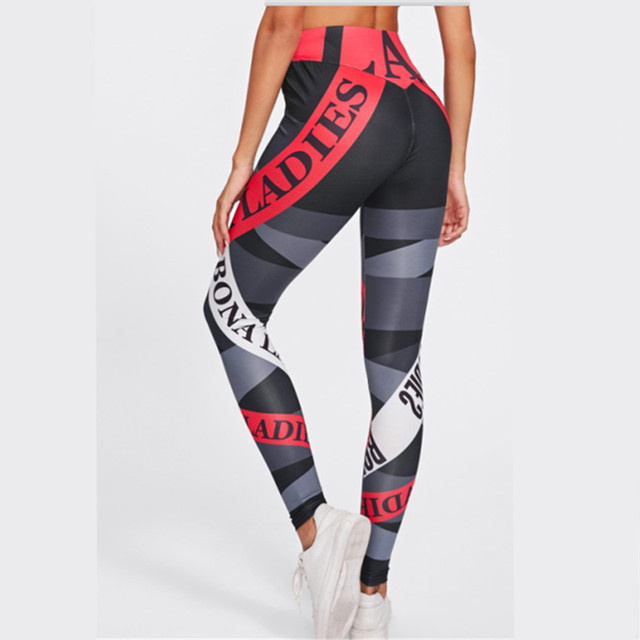 Fitness High Elastic Skinny Pants Fashion Clothing For Women Push up Workout Leggings New Print Sporting Leggings Women