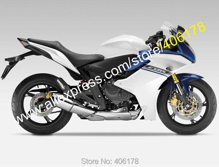 Горячие продаж,для Honda CBR600F 2011-2013 ЦБ РФ 600F CBR600F белый синий ABS кузова мотоцикла обтекатель комплект (литья под давлением)