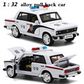 1:32 alloy car models,high simulation LADA car , metal diecasts, toy vehicles, pull back &  flashing & musical, free shipping