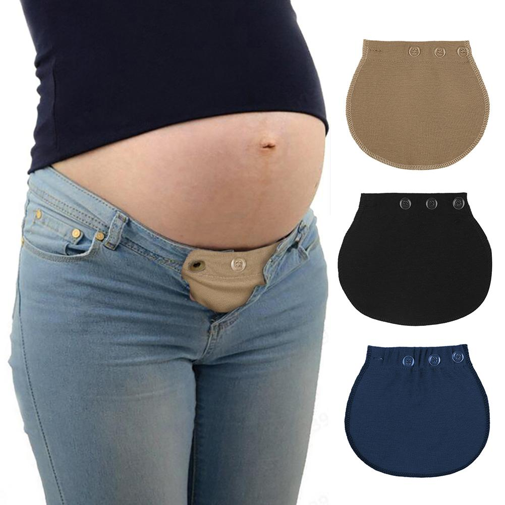 Pants Buckle Maternity Pregnant Women Waistband Elastic Extender Soft Pants Belt Extended Buckle Solid Color