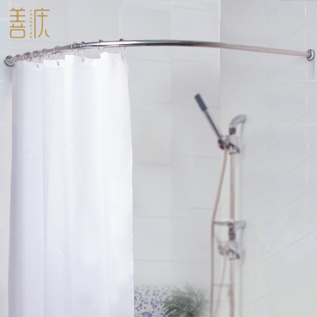 L Set curved shower curtain rod shower curtain type stainless ...