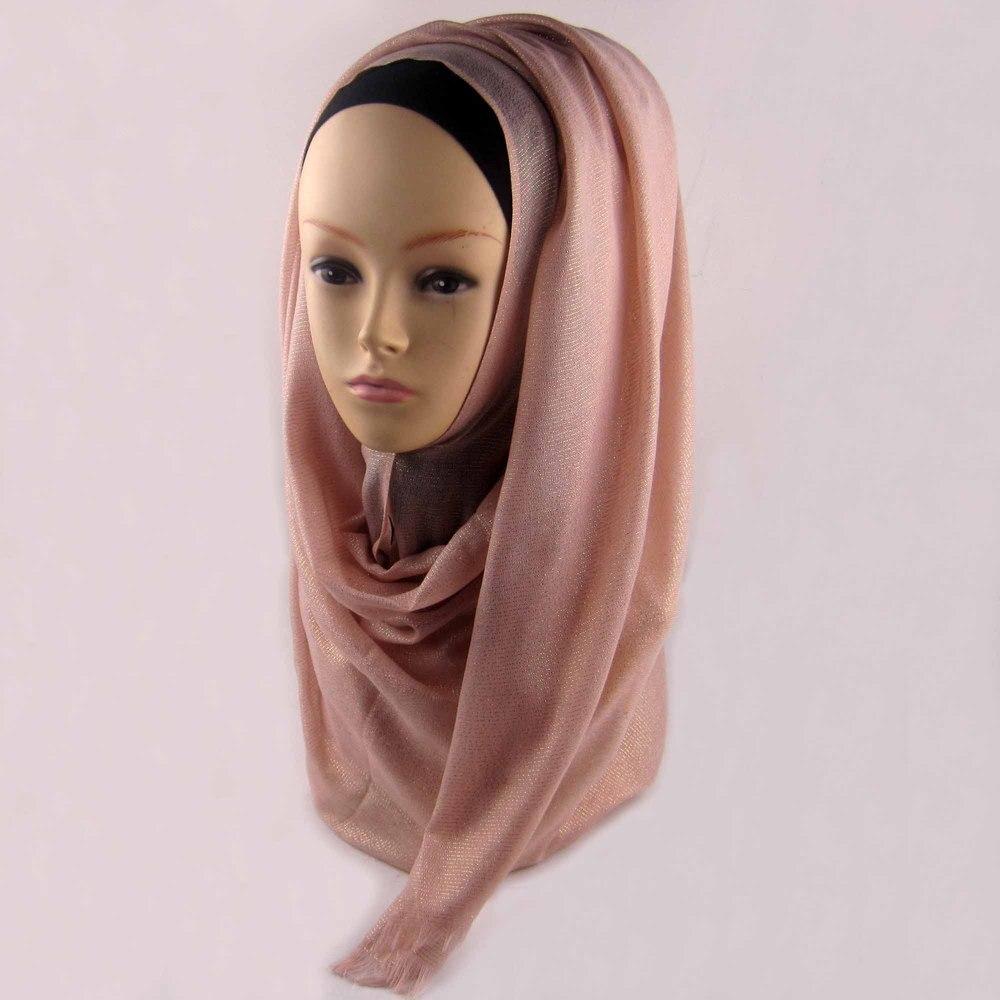 Мусульманский хиджаб мерцание шарф хиджабы блестящий шарфы мерцающий шаль, можете выбрать цвет - Цвет: color1