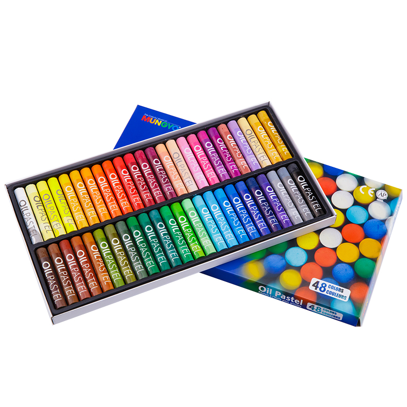 48 Colors Set Round Shape 70 11 mm Oil Pastel for Artist Students Drawing Pen School