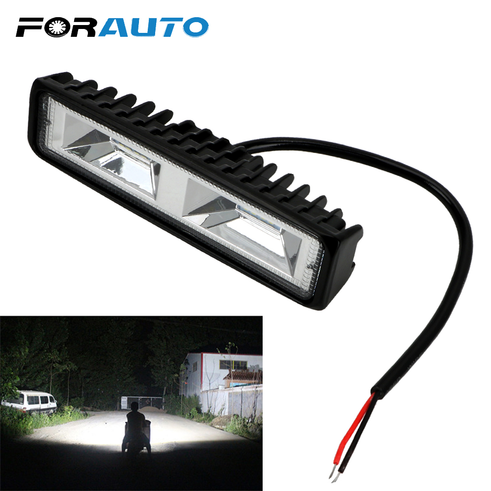 FORAUTO Fog Lamp LED Headlights Offroad Working Light For Car Motorcycle Truck Boat Tractor 12-24V 36W LED Work Light Spotlight
