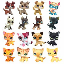 Real standing Short Hair cat animal pet shop toys dog original collections great dane collie dachshund spaniel girls gift