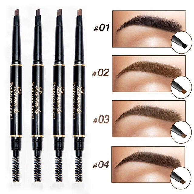 цена 2018 New Brand Eye Brow Tint Cosmetics Natural Long Lasting Paint Tattoo Eyebrow Waterproof Black Brown Eyebrow Pencil Makeup