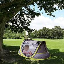 Baby Travel Bed Portable Baby Beach Tent UPF 50+ Sun Shelter Ultralight Baby Travel Tent Pop-Up Mosquito Net(China)