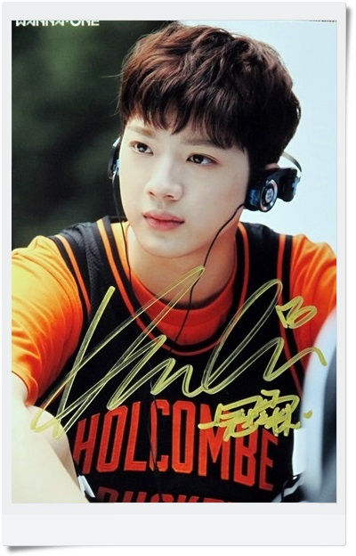 signed  WANNA ONE LAI KUAN LIN Eddie Edward autographed  photo TO BE ONE  6 inches  freeshipping  092017D d lin d150454 1
