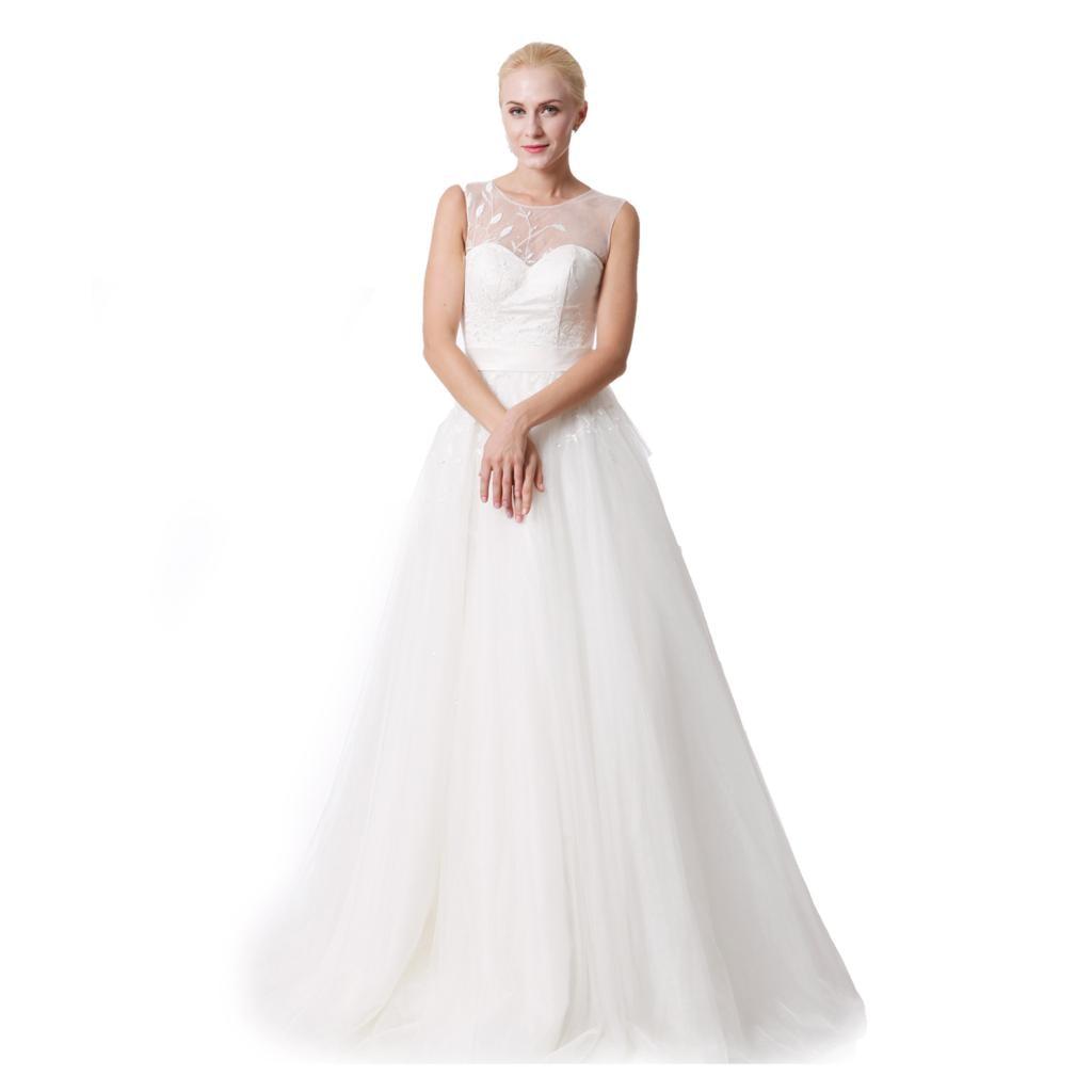 Ivory Ball Gown Wedding Dress: New Women Wedding Dresses Plus Size Sleeveless Sequined