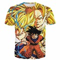 Classic Dragon Ball Z Super Saiyan t shirts Vegeta Goku Print Hipster 3D t shirt Men Women Anime tshirts tees Harajuku tee shirt