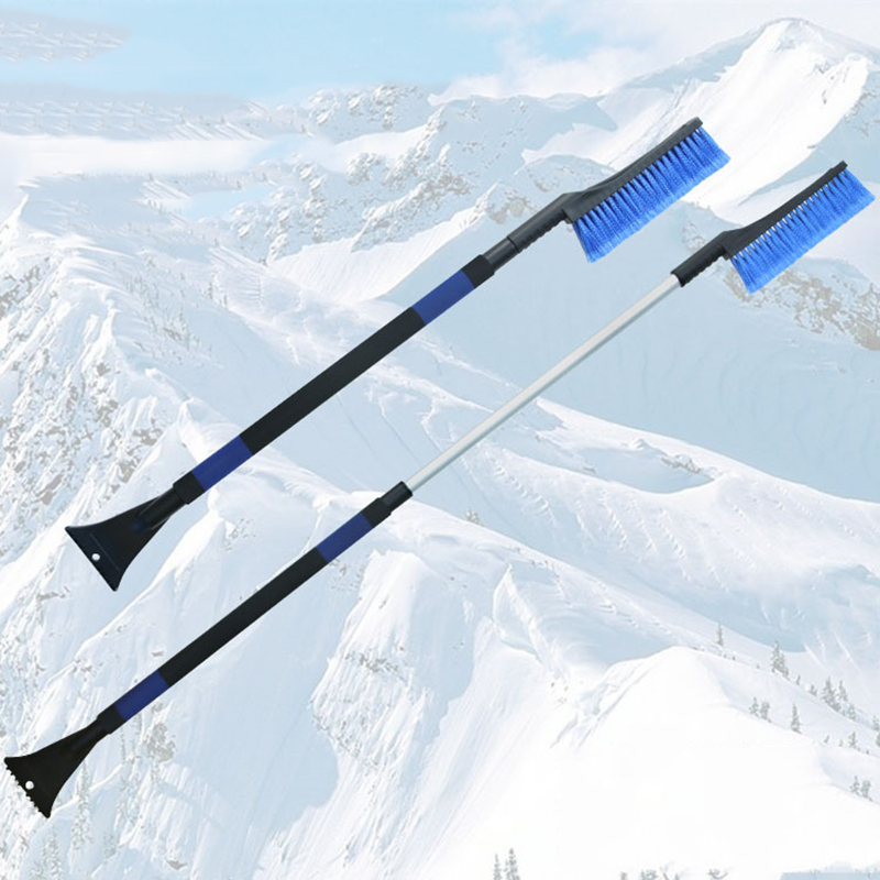 Ice Scraper Extensible Snow Shovel with EVA Cotton Handle Snow Shovel Winter Ice Shovel Car Wash Maintenance Car Styling