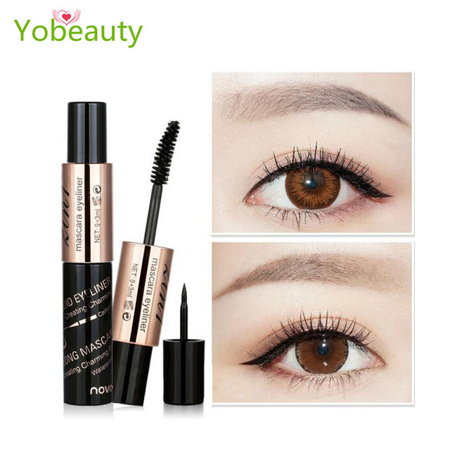 US $5 29 |Hot selling Eyeliner rimel de fibra False Eyelashes Make up  Waterproof younique Cosmetics Eyes eyelash for woman makeup-in Mascara from
