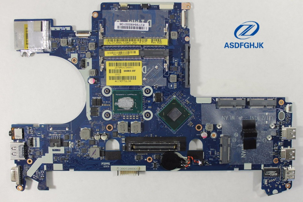 For Dell For Latitude E6230 Laptop Motherboard w/ <font><b>i5</b></font> <font><b>3360M</b></font> 2.8 GHz YJR6N 0YJR6N CN-0YJR6N Motherboard 100% Tested OK image