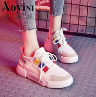 Brand 2018 Breathable Mesh Women Casual Shoes Vulcanize Female Fashion Sneakers Lace Up Soft High Leisure Footwears