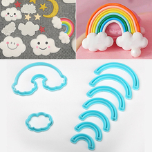 9cps/set Rainbow Cookie Cutter Fondant Cake Mold Baking Tools For Cakes Biscuit Decorating