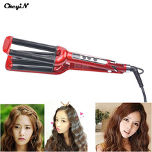 LCD Pro Electric Ceramic Styler Hair Curler Roller 3 Barrel Wavers Hair Styling Tools Hair Curling Iron Crimper Tongs P4850