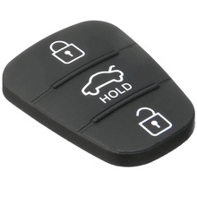1 шт. 3 кнопки резиновый автомобильный брелок для ключей для hyundai i20 i30 Kia Solaris Rio Sorento Sportage Ceed