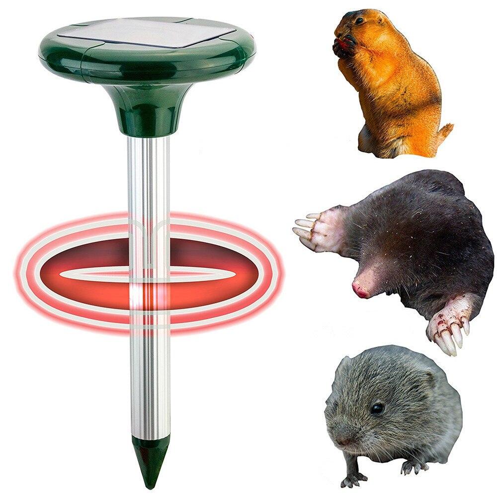 Solar powered mole Repeller Sonic mole Pest Control 400Hz sound and vibration