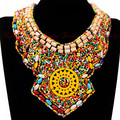 Cheap Perfect Match Bohimia Style Cloth Style Cololrful Handmade Wood Beads Light Holiday Party Dress Jewelry Gift Free Shipping