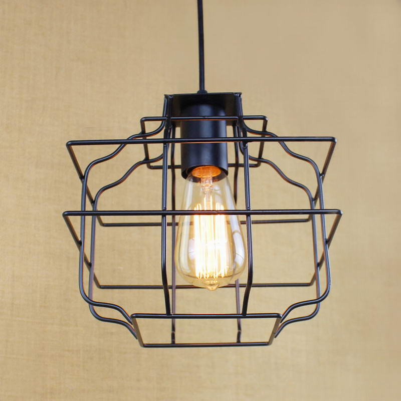 Retro Metal Wire Pendant Lamp /american Brief Light For