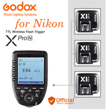 GODOX XPro-N i-TTL 2.4G Wireless Flash Trigger + Receiver For Nikon SB910 SB800 SB5000 V860N D810 D3100 D3200 D3300 D5000 D7100