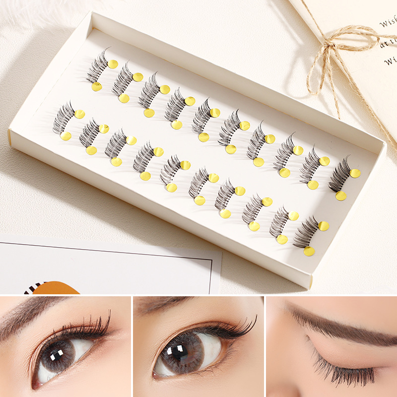 New 10 Pairs/set Mini Half Corner Black Handmade False Eyelashes Natural Fake Eyelashes Lashes Extension Tools Makeup Supplies