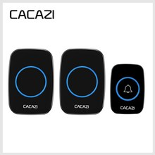 CACAZI Neueste LED Smart Türklingel Wasserdicht 300 mt Remote Mini Drahtlose Tür glocke 38 Chimes 20 85dB EU/UK/ UNS stecker Tür Ring