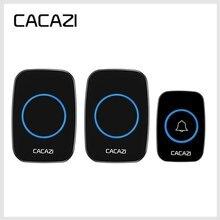 CACAZI timbre de puerta inteligente con LED, minitimbre de puerta con control remoto de 300M, resistente al agua, 38 carillones, 20 85dB, con enchufe para UE/REINO UNIDO/EE. UU.