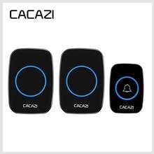 CACAZI новейший светодиодный умный дверной звонок, водонепроницаемый, 300 м, дистанционный, беспроводной, дверной звонок 38 мелодий 20 85 дБ, штекер EU/UK/US, дверной звонок