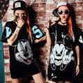 Funny mice sequins Nightclub Party sexy top DS DJ hip hop jazz dance Real collar drain shoulder flap loose  trend women dress