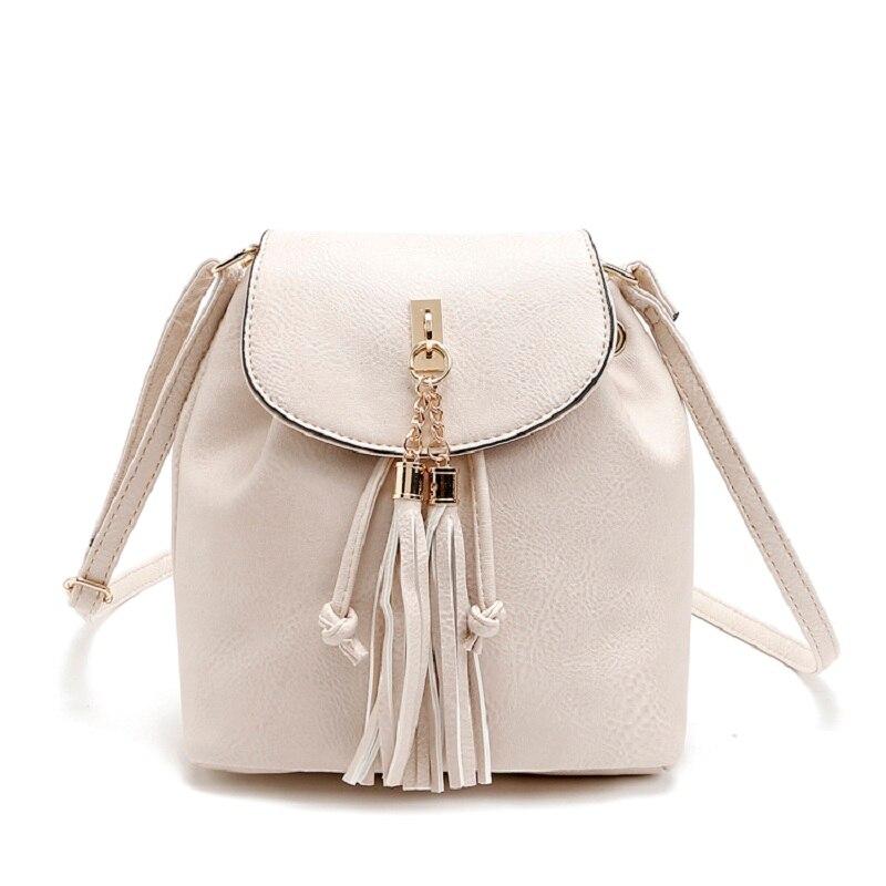 Tassel Leather Hobos Bag Women Large Capacity Handbag Lady Patchwork Shoulder Bags Women Shoulder Bags