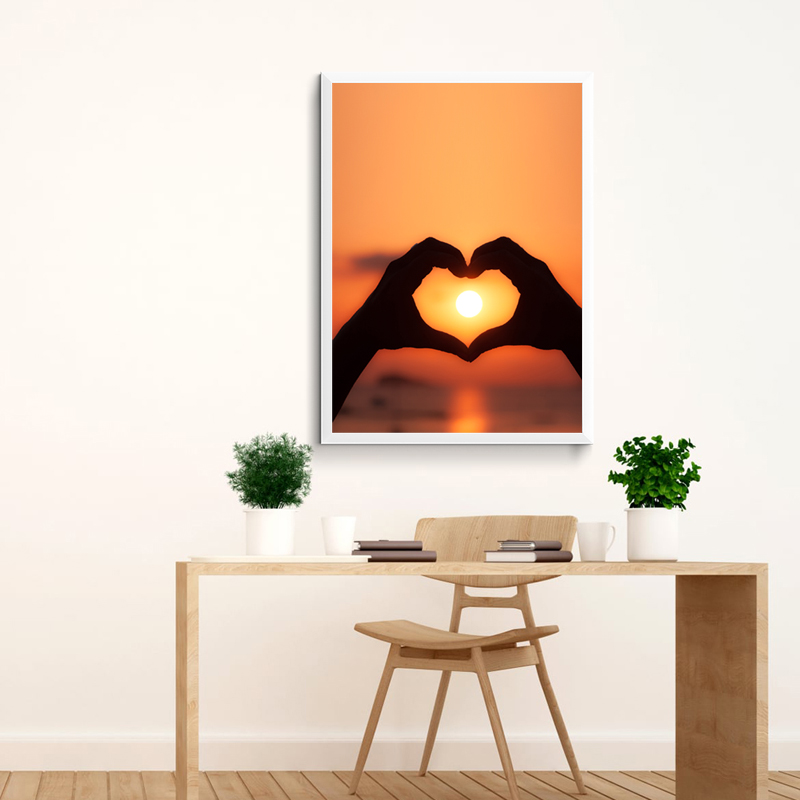 NOOG Canvas Painting Poster Art Print on Watercolor Heart Tree Wall Picture for Home Decoration Giclee Print Wall Decor no frame in Painting Calligraphy from Home Garden