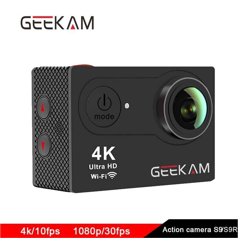 D'origine GEEKAM S9 d'action caméra 4 K sport 1080 P WiFi caméra camaras deportivas Extérieure imperméable à l'eau Mini hd dv aller extrême pro cam
