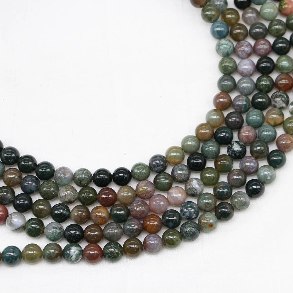 Lots Natural Stone Gemstone Round Spacer Loose Beads DIY 4//6//8//10//12MM