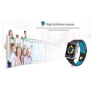 Image 5 - Bluetooth Smart часы M3 с Камера Facebook Whatsapp Twitter Синхронизация SMS Smartwatch Поддержка SIM карты памяти для IOS Android