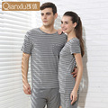 100% cotton spring and autumn men's pajamas full sleeve home clothing O-neck solid men night sleepwear free shipping