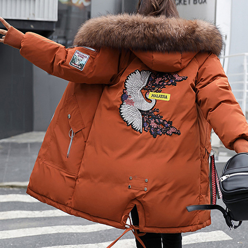 Parka Women Winter Jackets And Coats Fashion Faxu Fur Hooded Parkas Military Female Cotton Padded Warm Coat Outwear Plus Size